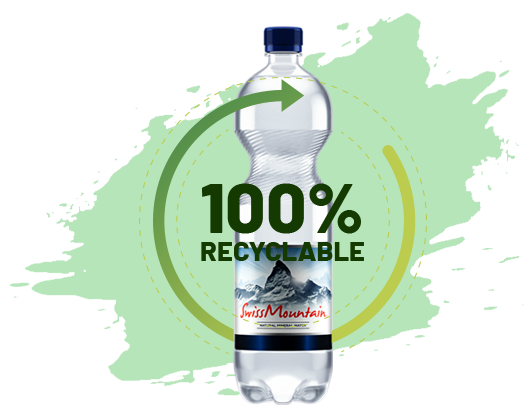 Mineral water bottle recyclable